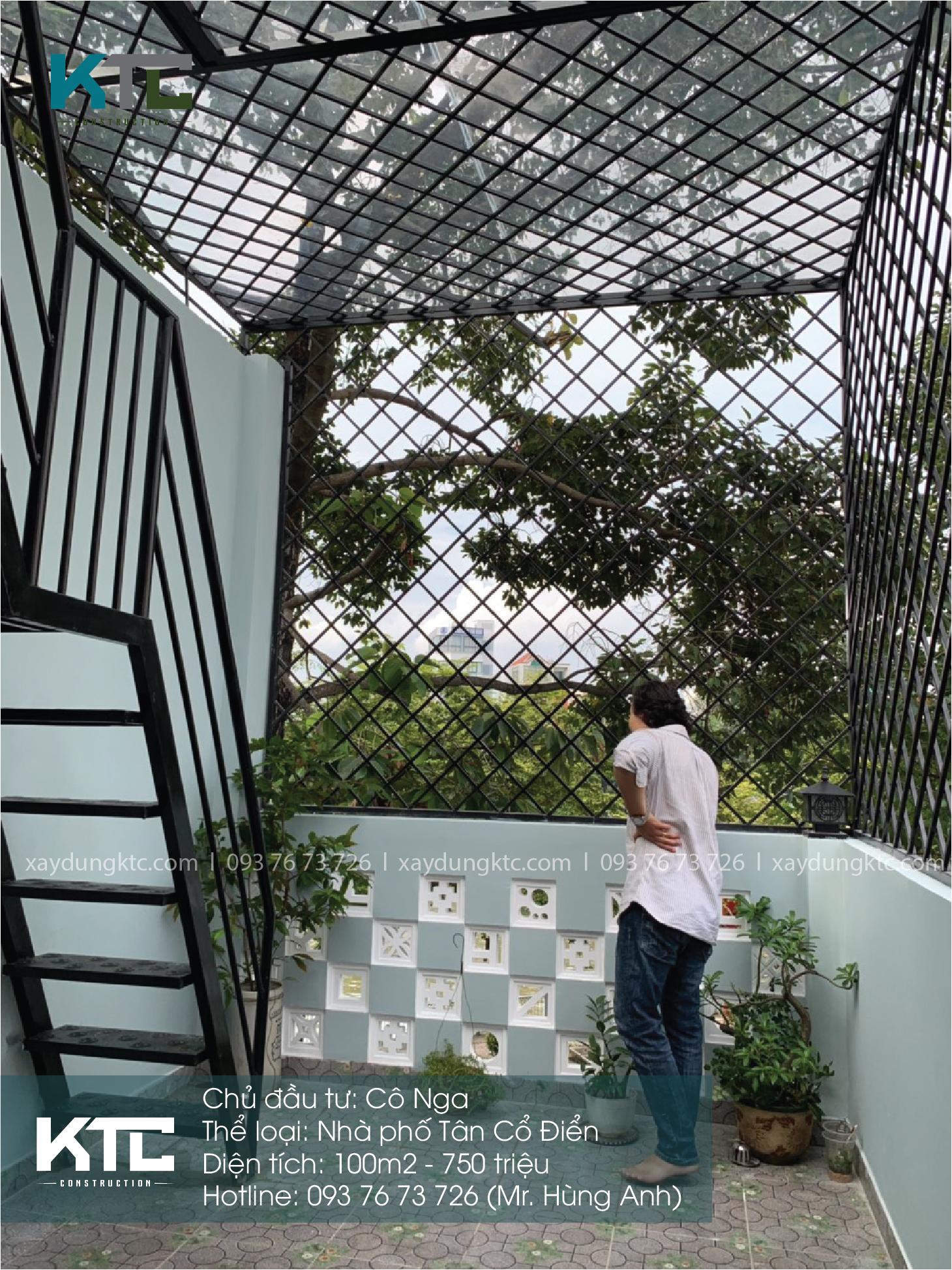 sân thuojwngj cũng là không gian để gia chủ trồng cây, thư giãn
