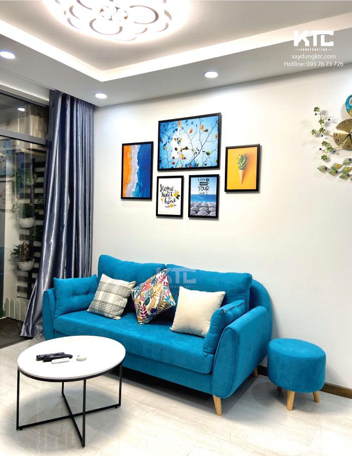 Thiết kế nội thất chung cư 70m2 tại căn hộ cao cấp Him Lam Q9