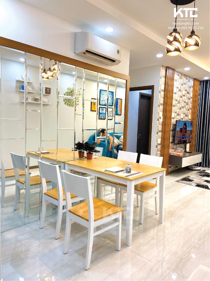 thiết kế nội thất chung cư 70m2 - không gian bếp