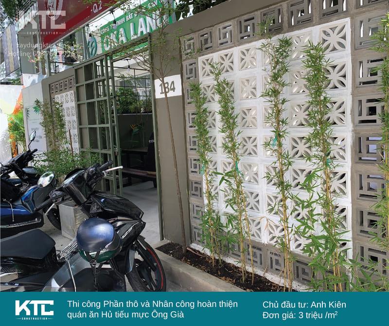 2 bức tường bông gió xinh đẹp với 3 tone màu xám, trắng và xanh lá