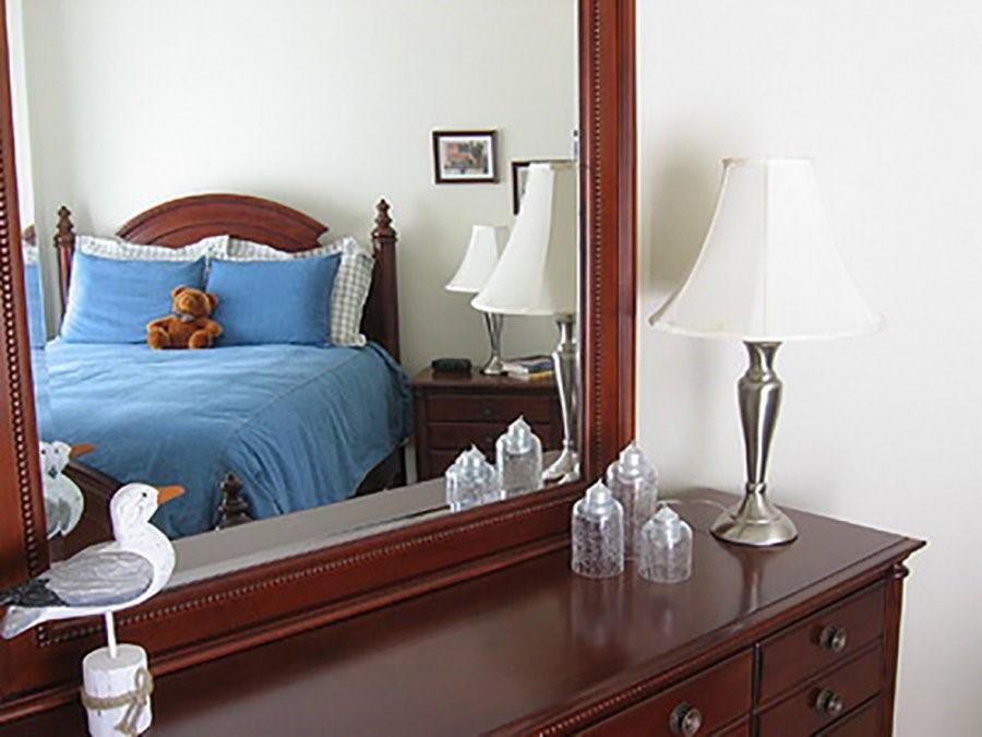 Không nên để gương trong phòng ngủ
