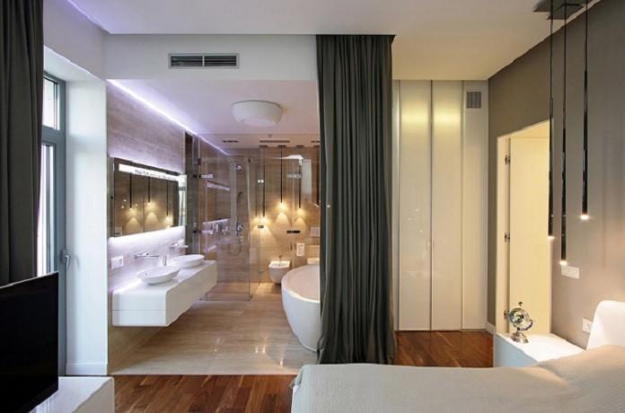 Phòng ngủ đối diện nhà vệ sinh là một lỗi phong thủy nhà ở