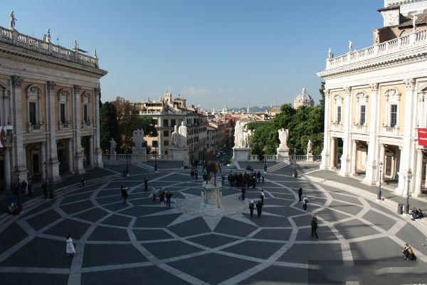 Quảng trường Piazza del Campidoglio theo phong cách kiến trúc Phục Hưng